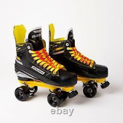 Bauer Supreme S35 Quad Roller Skates Sure-grip Rock Plate No Wheels Uk 8