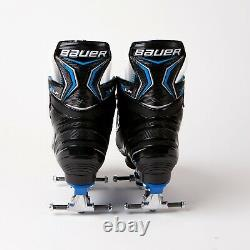 Bauer X-lp Quad Roller Patins Bleu Sure-grip Plaque De Roche Ventro Roues