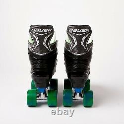 Bauer X-ls Quad Roller Patins Blue Sure-grip Rock Plate Airwave Roues