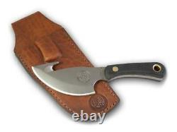 Couteaux D'alaska 00010fg Couteau Léger De Chasse Suregrip Avec Gaine En Cuir
