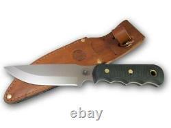 Couteaux D'alaska 00014fg Couteau De Camp De Bush Suregrip Avec Gaine