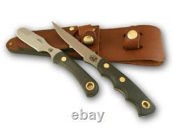 Couteaux D'alaska Chasse 2 Couteau Combo Jaeger Muskrat Suregrip 00257fg Dealer