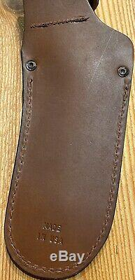 Couteaux De Alaska Ours Brun Avec Fourreau Et Poignée Suregrip, USA Fabriqué