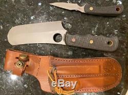Couteaux De Alaska Ours Brun Combo Sure Poignée De Lames De Finition De Poignées En Caoutchouc