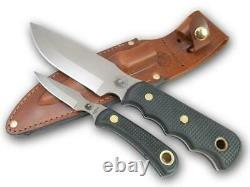 Couteaux De L'alaska 00035fg Bush Camp/cub Combo Suregrip Couteau Avec Gaine En Cuir