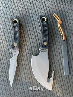 Couteaux De L'alaska Chasseur Léger Combo. Occaion Mais Jamais Utilisé. Handels Bonne Prise En Main