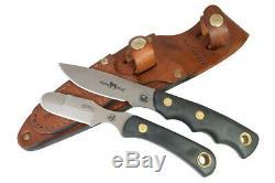 Couteaux De L'alaska Couteau Alpha Loup Hunting Combo Dépecer Suregrip Cuir Gaine