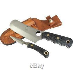 Couteaux De L'alaska De L'ours Brun / Cub Combo Suregrip Couteau Avec Sheat En Cuir