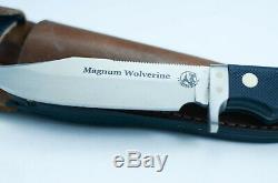 Couteaux De L'alaska Magnum Wolverine Couteau À Lame Fixe -suregrip Poignée-satin