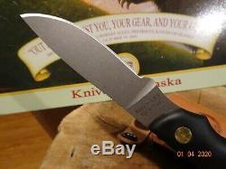 Couteaux De L'alaska Model345fg Alpha Loup S30v Lame Suregrip Poignée En Cuir Gaine