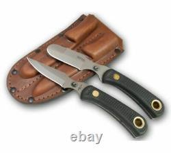 Couteaux De L'alaska Muskrat / Cub Ours Couteaux Combo, Poignée Suregrip, Noir