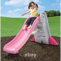 Extérieur Slide Step2 Naturellement Ludique Big Folding Pink Toddlers Sure Grip Handle