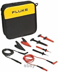 Fluke Tlk-220 Suregrip Industrial Test Lead Kit With Zippered Vinyl Carry Case