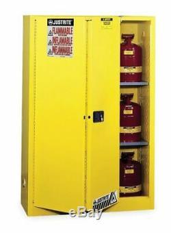 Justrite 894580 Sure-grip Ex Inflammable Cabinet De Sécurité, 45 Gal, Jaune