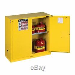 Justrite Sure-grip Ex 893020 Sécurité Inflammable Cabinet 30 Gallon Auto Fermer Portes