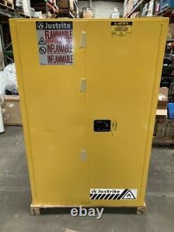 Justrite Sure-grip Ex Armoire De Stockage Liquide Inflammable Auto-fermeture 90 Gallon