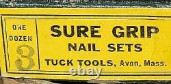 Lot De 11 Outils De Tuck Sure Grip Vintage Nail Set #3 USA Nos