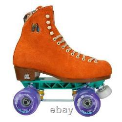 Moxi Lolly Clementine Orange Skates Taille 6 W7-7.5 Sunlite Plaques Sure-grip Wheel