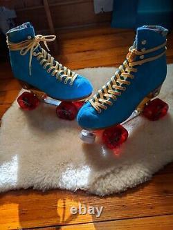 Moxi Lolly Pool Skates Taille 7 W8-8.5 Sunlite Plaques Sure-grip Wheels