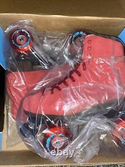 New Sure Grip Boardwalk Roller Skates Red Mens Taille 8 / W9