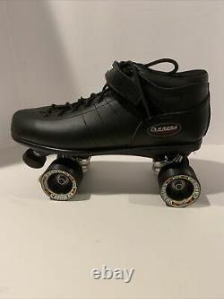 Nouveau Riedell Carrera Speed Skates Homme Taille 14 Noir 105b 96a Sure Grip Wheels