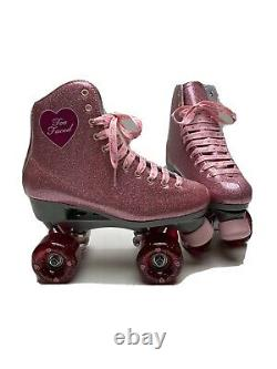 Nouveau Sure Grip Two Faced Exclusive Stardust Sz 7 Roller Skate With Outdoor Wheels