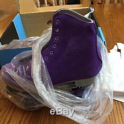 Nouveau Sure Grip Violet Suede Leather Boardwalk Patins À Roulettes Extérieures Hommes 9 Wom 10
