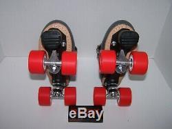 Nouveau Sure-adhérence Sur Mesure En Cuir Roller Derby Skates Taille Dames 8