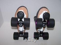 Nouveau Sure-mag Prise En Main. Avenger 45da Cuir Custom Roller Derby Skates Taille Dames 8