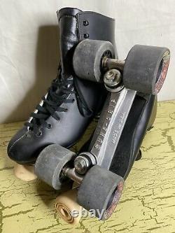 Nouveau Vintage Sure-grip Super X7 Roller Patins M8.5 W9.5 Black Gorilla Grip Wheels