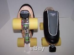 Nouvelle Sure-adhérence S-85 Personnalisé Roller Skates Cuir Hommes Taille 8