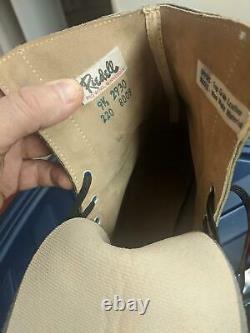 Nouvelles Patins À Roulettes Vintage Riedell 9-1/2 Sure-grip Plaques Roues Blanches