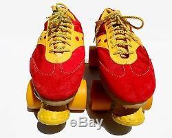 Patins À Roulettes Vintage Vintage Jogger Sure-grip En Rouge / Jaune - Taille Homme 10