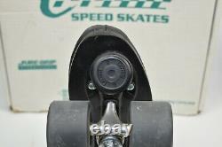 Riedell Carrera Speed Roller Skates Mens 10 Black Sure Grip Custom Built Nib