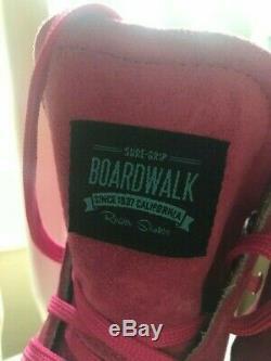 Rose Suede Sure-grip Boardwalk Taille Patins À Roulettes (9-9.5 Femmes)