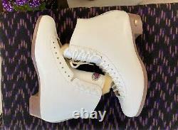 Sure Grip 93 Femmes 10 1/2 Bottes De Skate Artistique En Cuir Blanc