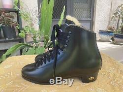 Sure Grip 93 Hommes Taille 7.5 Bottes En Cuir Noir Artistique Skate En Peau De Mouton Langue
