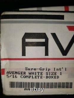 Sure Grip Avenger White Aluminum Plates Taille 1 S'adapte 5 & 6 Patins Riedelle Da45