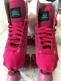 Sure Grip Boardwalk Déclassé Pink Suede Roller Skates Taille 5