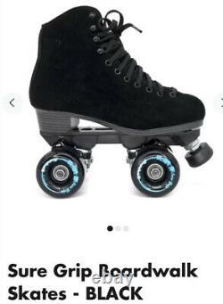 Sure Grip Quad Outdoor Skates Boardwalk Noir Suede Hommes 6 / Femmes 7