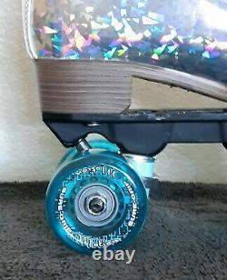 Sure Grip Quad Roller Patins Prism Plus Argent Glitter Blue Hommes 5 / Femmes 6