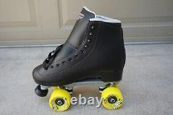 Sure-grip Hommes Rollerskates Sgi Fame Black Taille 9 Special Sonic Yellow Wheels
