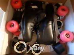 Sure-grip Quad Speed boxer Skates Noir / Rose Taille 8 Nib