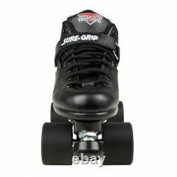 Sure-grip Rebel Fugitive Derby Quad Skates Us 13 / Royaume-uni 12 Black Rollerskates