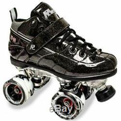 Sure-grip Roche Gt-50 Black Sparkle Quad Derby Rouleau Us Skates 7