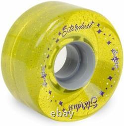 Sure-grip Stardust Glitter Quad Roller Skate Roues Extérieures 78a Jaune 62mm