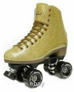 Sure-grip Stardust Glitter Roller Skate Gold Mens 7 / Dames 8