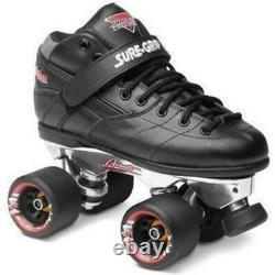 Suregrip Rebel Roller Skates Black W Avanti Plaque D'aluminium