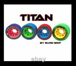 Suregrip Titan Wheels 59mm 8pack Derby Indoor Roller Skate Postage Gratuit