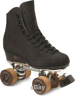 Taille 4 1300 Skate Paquet Artistique Skate Rollerskates Libre Poste En Daim Noir